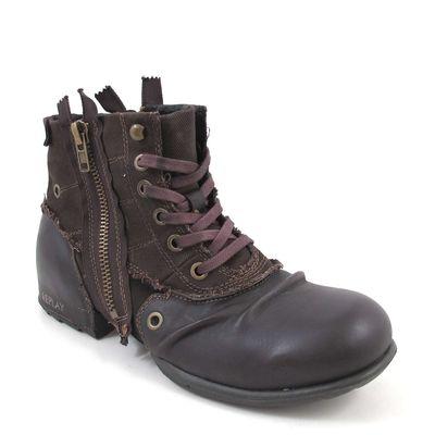 Replay Clutch Dark Brown Boots