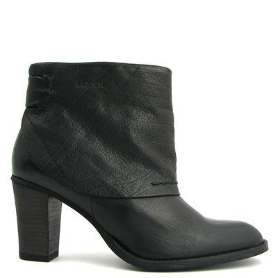 MEXX / Ankle Boots »Pluche« Schwarz / Stiefeletten m. Stulpe