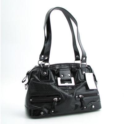 Marco Tozzi Bags / Handtasche Schwarz Lack, perforiert