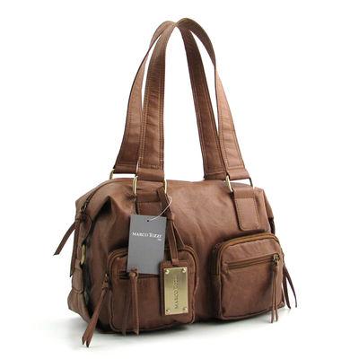 Marco Tozzi / Handtasche Trüffel-Braun, IT-Bag kantig