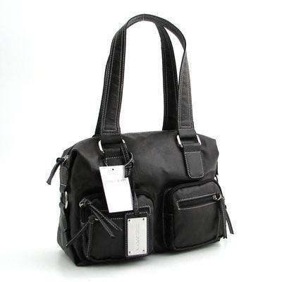 Marco Tozzi / Handtasche Schwarz, kantige Form, It-Bag