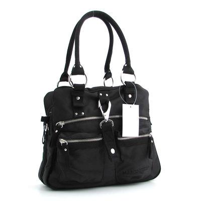 Marco Tozzi / Shopper Handtasche Schwarz Nylon/Textil