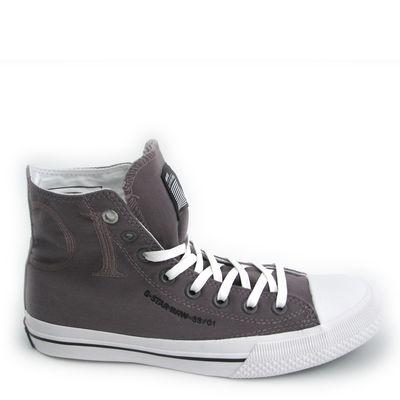 G-STAR / Damen-Sneaker Campus Lola Hi Castor, Grau Leinen