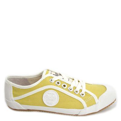 Replay / »Nevia« Sneaker Leinen-Schuhe Gelb/Weiss