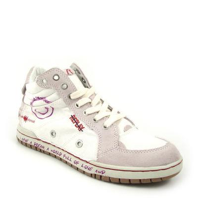 Replay / Hi-Sneaker »Dream W« Weiss-Lila Canvas