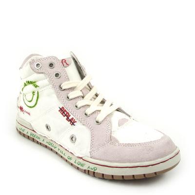 Replay / Canvas-Sneaker  »Dream W« Weiss-Grün
