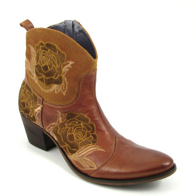 We Are... / Western-Stiefelette »DollyD Duster Antilope« Braun