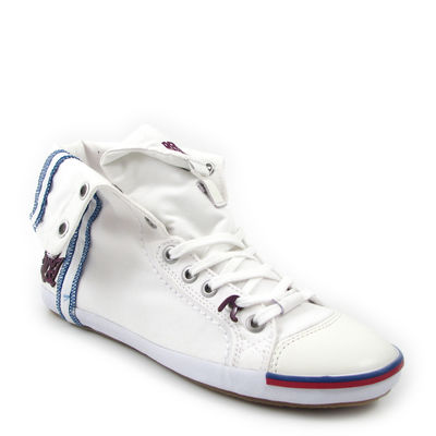 Replay / Leinen-Sneaker »Brooke Mid« Weiss (White)