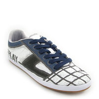 Replay / »Lux Printed« White-Blue - Sneaker bedruckt
