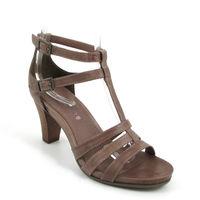 comma / Plateau-Sandalette Braun/Pfeffer - Sling Sandals Pepper