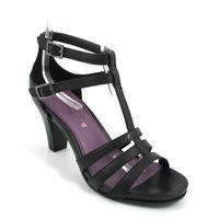 comma / Plateau-Sandalette Schwarz - Sling Sandals Black