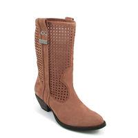 MISS SIXTY / »Micaela« Braun Sommer-Stiefel mit Löchern - Cowboy-Style
