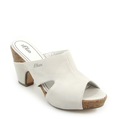 s.Oliver / Clogs Weiss - Sandals White