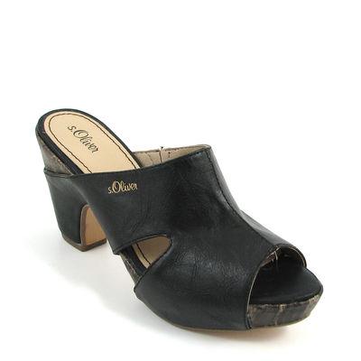 s.Oliver / Clogs Schwarz - Sandals Black