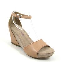 comma / Keilabsatz-Sandalette Beige-Silk (Sling Sandals)