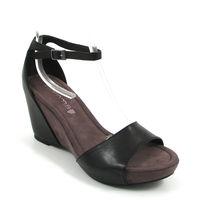 comma / Keilabsatz-Sandalette Schwarz - Sling Sandals Black