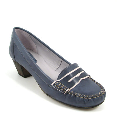 PAM / College-Pumps Blau - Mokassin-Slipper