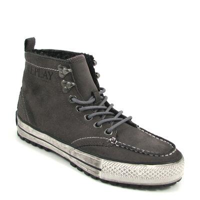 REPLAY / »DREAM L HAIR« Grey - Sneaker Grau