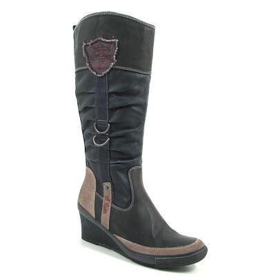 s.Oliver / Keilstiefel Blau - Boots Navy - Stiefel