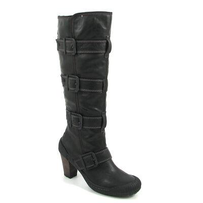 s.Oliver / Stiefel mit Reissverschluss Hinten Schwarz - Boots Black