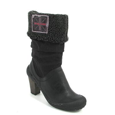s.Oliver / Stiefel Schwarz - Boots Black Comb
