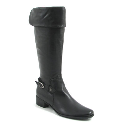 Tamaris / Lederstiefel Schwarz - Stiefel Black