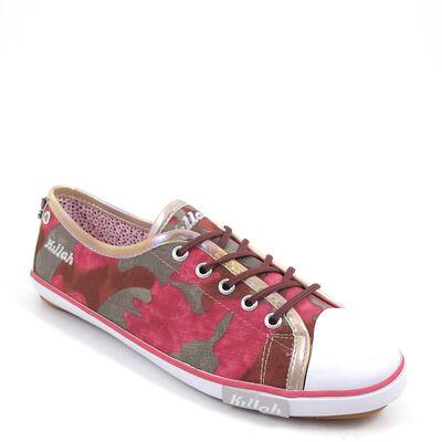 Killah / Sneaker CATERINA Pink-Grau-Camo - Schn?rer