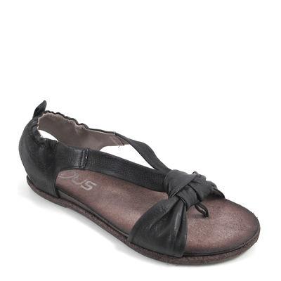 MJUS / Sandale Schwarz - COTTON NERO - flache Sandaletten