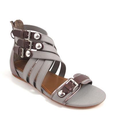 MISS SIXTY / PEGGIE Sandale Grau/Silber/Braun - Römersandale Sandalette