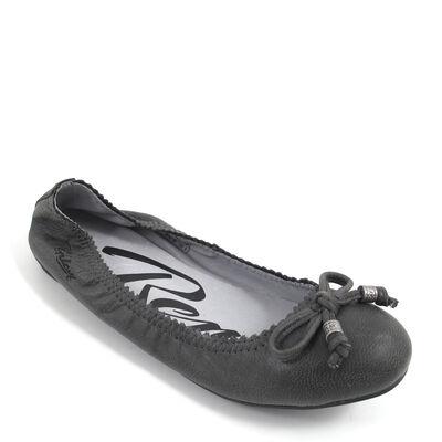 REPLAY / ALEASE BLACK - Ballerina Schwarz-Grau - Leder