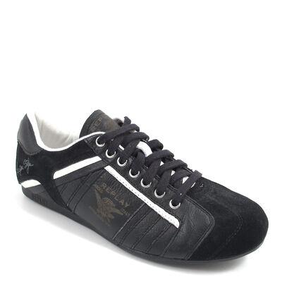 REPLAY / BEERE BLACK/WHITE - Herren-Sneaker Schwarz/Weiss Leder