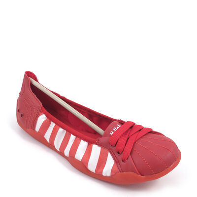 Killah / POMEGRANTE - Ballerina Rot/Weiss gestreift - Stripes Red