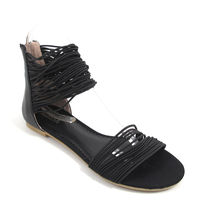 Killah / Sandalette Schwarz - GABRIELLE - Sandale Gummibändchen
