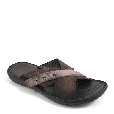 AirStep / KIOS TDM - Herren-Pantolette/Sandale Braun-Grau