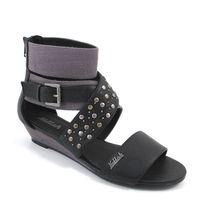 Killah / ELEA Sandalette Schwarz/Grau - Keil-Sandale