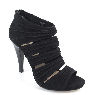BELMONDO / Sandalette Schwarz - Ankle Sandalette Nubukleder Nero