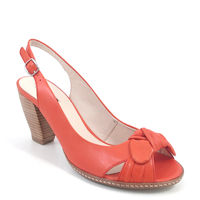 BELMONDO / Slingpumps Rosso - Sandalette Coral (Orangerot)