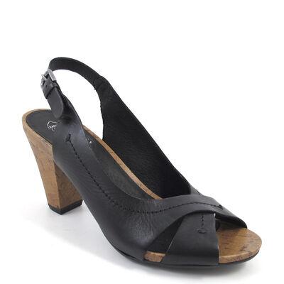 Caprice / Sandalette Schwarz - INKA BLACK - Kork-Absatz und Plateau