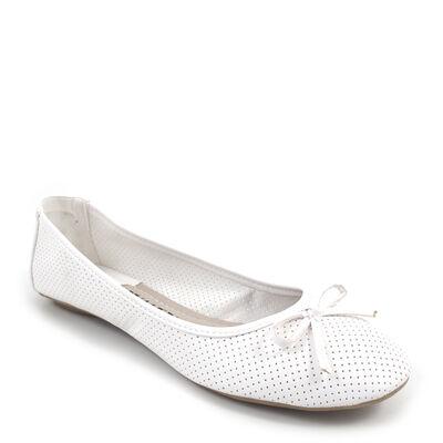shoes&style / Ballerinas Weiss mit Schleifchen - klassische Ballerina