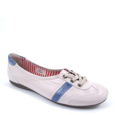 BELMONDO / Sneaker-Ballerina Weiss/Blau (Divine Sapone)