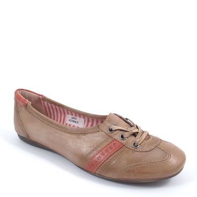 BELMONDO / Sneaker-Ballerina Braun/Rot (Divine Cuoio)