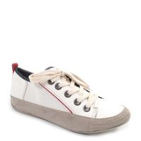 Tom Tailor / Damen Sneaker Weiss - Maine Lace Up red/wht/blue
