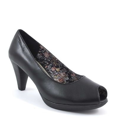 Tamaris / Peeptoes Schwarz - Plateau Pumps Black
