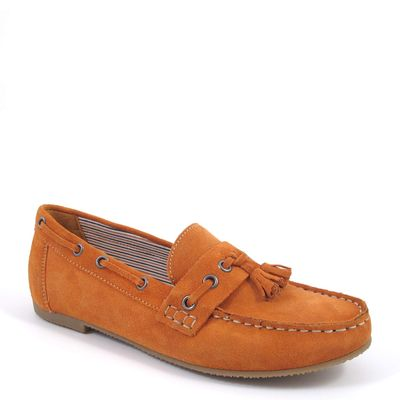 Caprice / Mokassin Orange - Wildleder Slipper Orange Suede