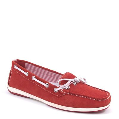 Caprice / Mokassin Rot/Weiss - Slipper Red/White - Boat Shoes