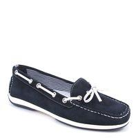 Caprice / Mokassin Blau/Weiss - Slipper Ocean/Wht - Bootsschuhe