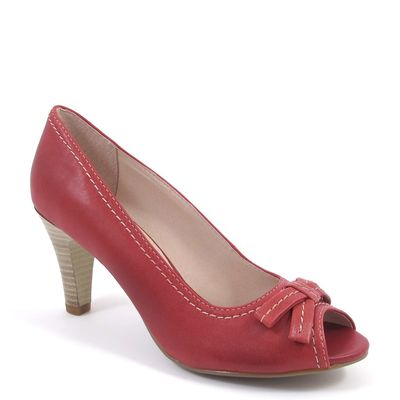 Caprice / Peeptoes Rot - Open Toe Pumps Red - Stiletto