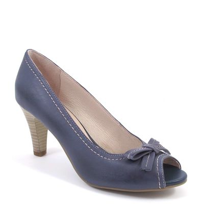 Caprice / Peeptoes Blau - Open Toe Pumps Blue - Stiletto