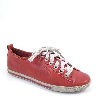 Tamaris / Sneaker Chili - Damen-Schnürer Rot - Schnürschuhe