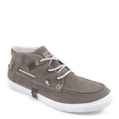 NAPAPIJRI / Mokassin-Boot Grau - OSLO MID GREY - Herren Boat Shoes